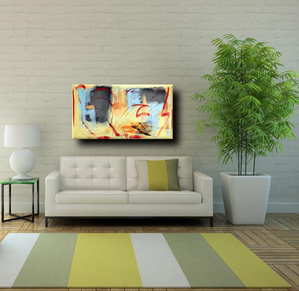 quadri astratti olio su tela moderni b39 - dipinti moderni fatti a mano 120x60