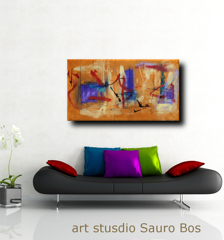 quadri moderni fatti a mano 120x60 xxl | sauro bos