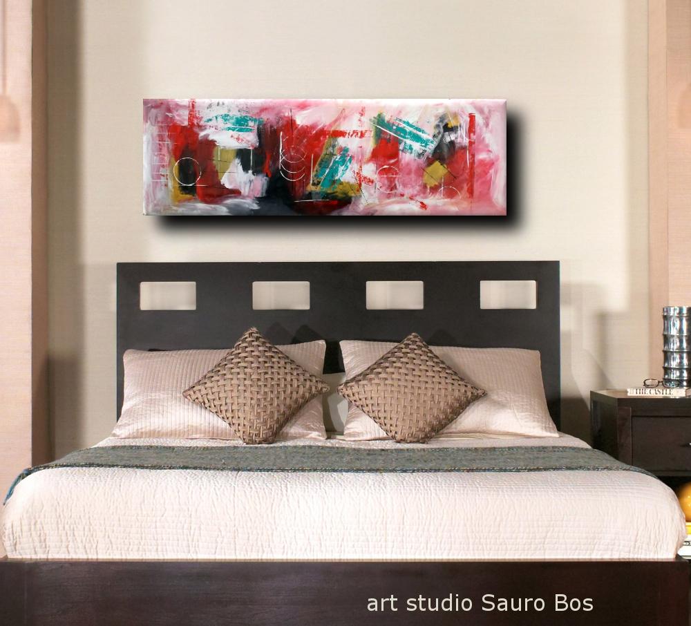 Quadri moderni grandi dimensioni 180x50 sauro bos for Quadri moderni camera da letto