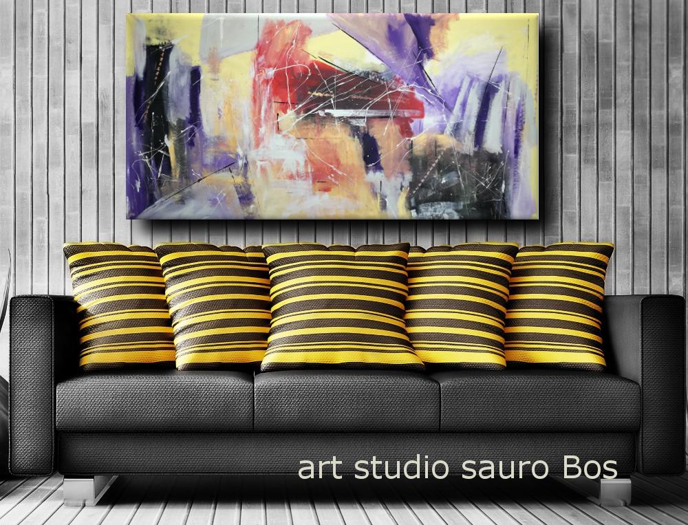 quadri astratti per soggiono moderno b33 - dipinti moderni grandi dimensioni 180x90 fatto a mano