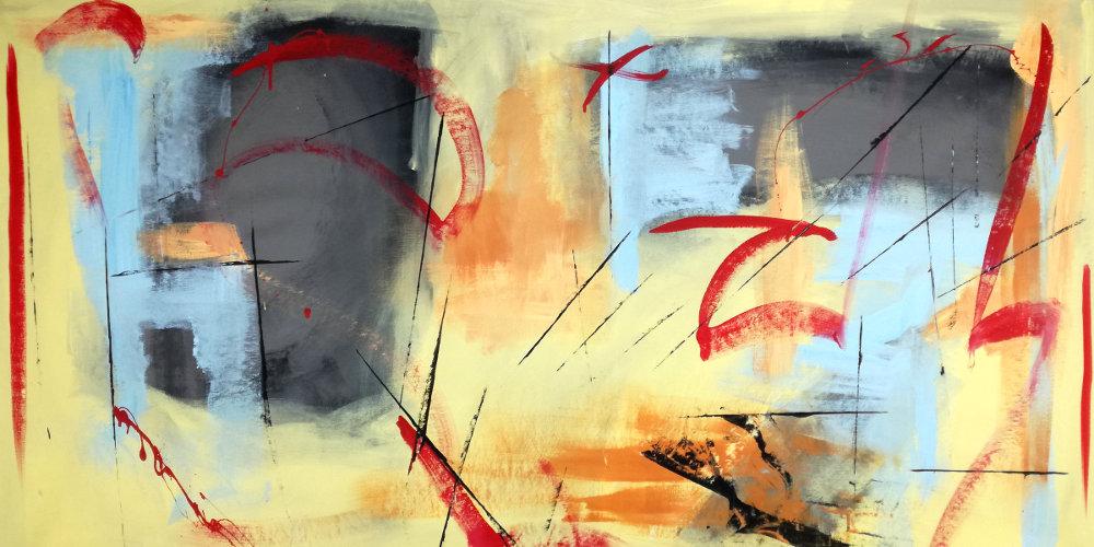 quadri astratti per soggiorno b39b39 - dipinti moderni fatti a mano 120x60