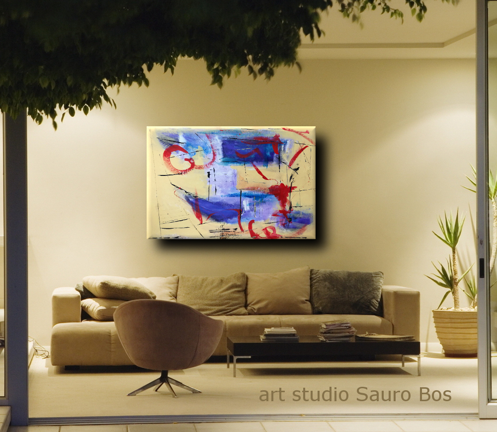 quadri astratti per soggiorno b43 - dipinti astratti fatti a mano 120x80 xxl
