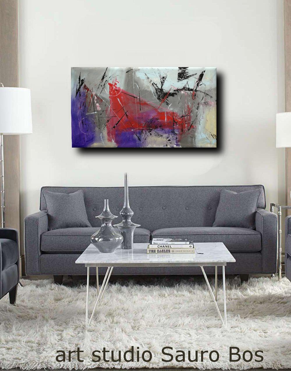 quadri astratti prt soggiono b47 - quadri moderni fatti a mano 120x60 xxl