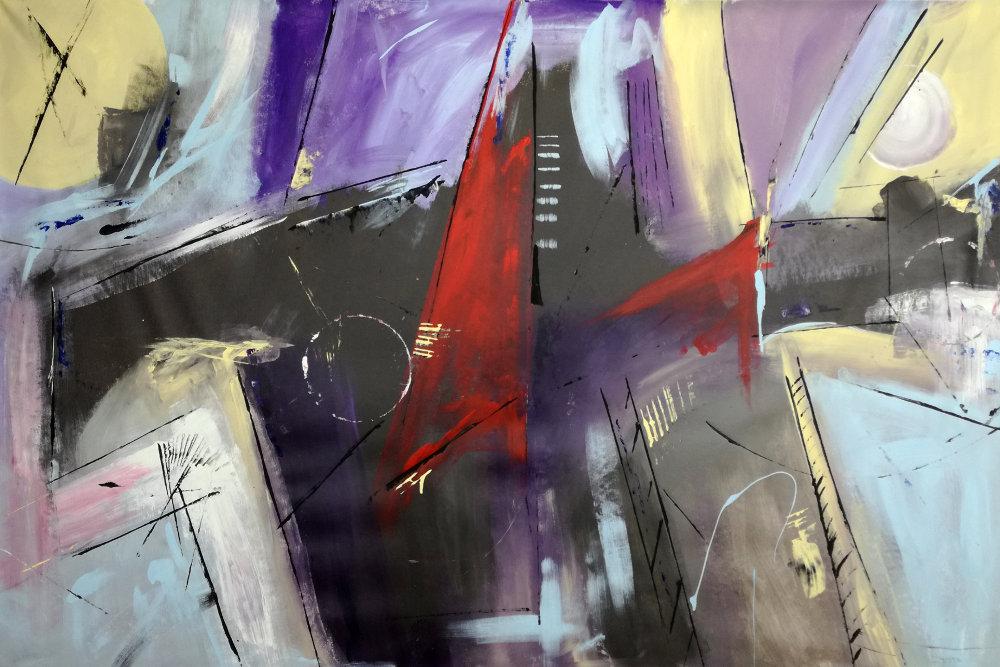 quadri astratti su tela b46 - dipinti astratti fatti a mano 120x80 xxl