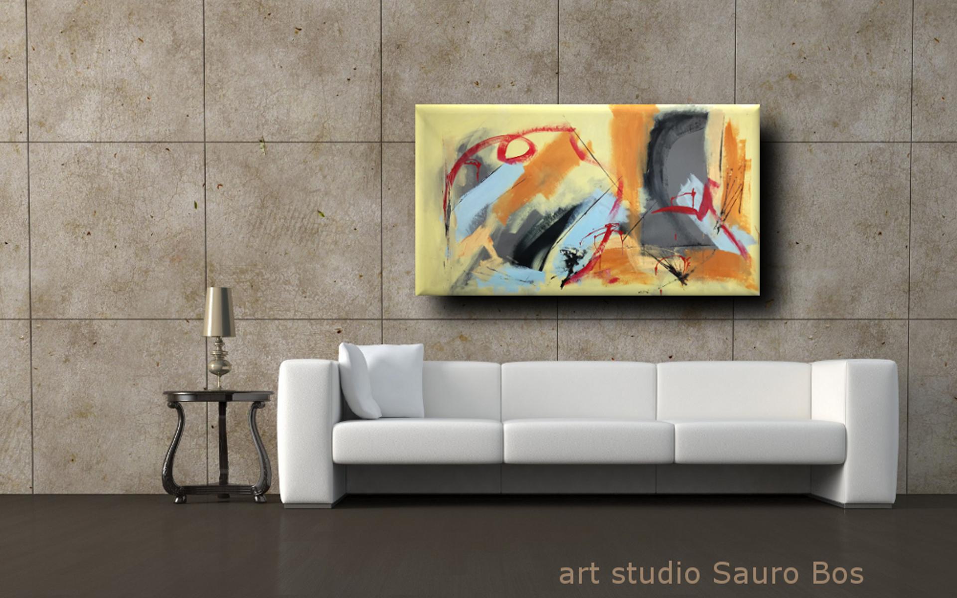 quadri astratti su tela moderni b40 - quadri astratti fatti a mano 120x60 xxl