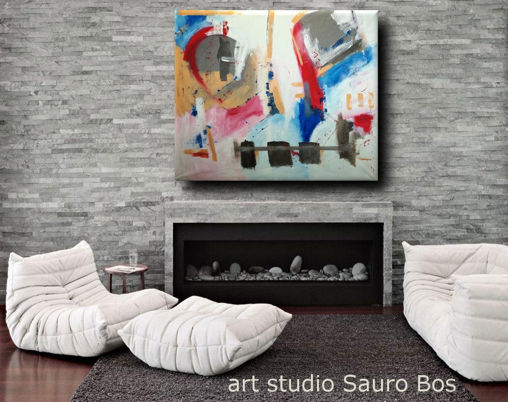 quadri astratti xxl grandi dimensioni b35 - dipinti moderni grandi dimensioni 155x130