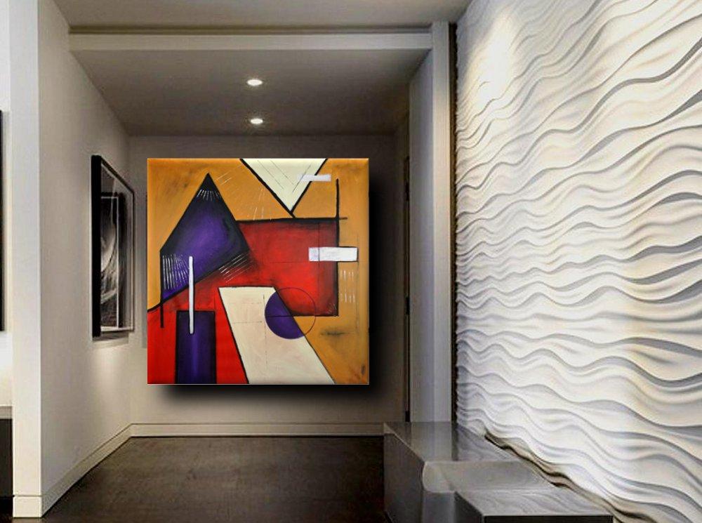 quadri geometrici moderni b22 - quadri moderni geometrici 120x120