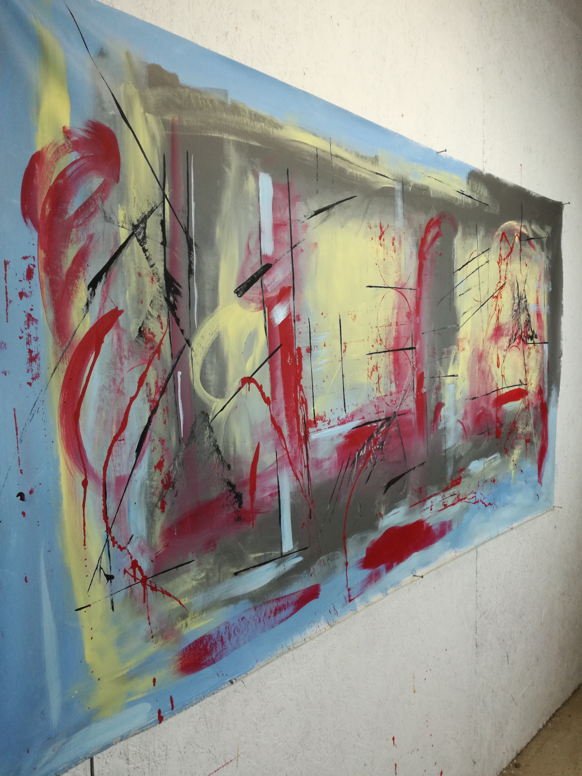 quadri giganti moderni b36.jpg - dipinti moderni giganti 180x90 per soggiorno