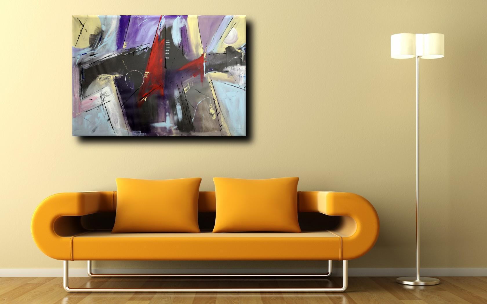quadri grandi astratti b46 - dipinti astratti fatti a mano 120x80 xxl