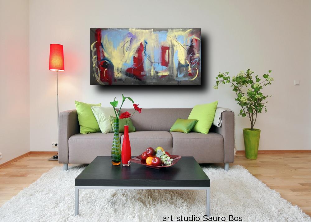 Dipinti astratti grandi dimensioni 180x90 per soggiorno for Quadri grandi per salotto
