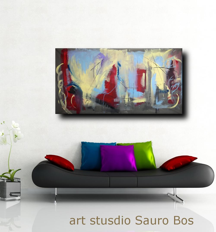Dipinti astratti grandi dimensioni 180x90 per soggiorno - Quadri per soggiorno ...