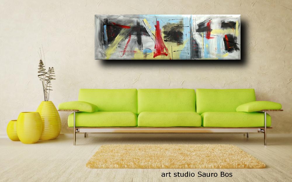 quadri lunghi astratti b49 - quadri moderni grandi dimensioni 180x50 astratto