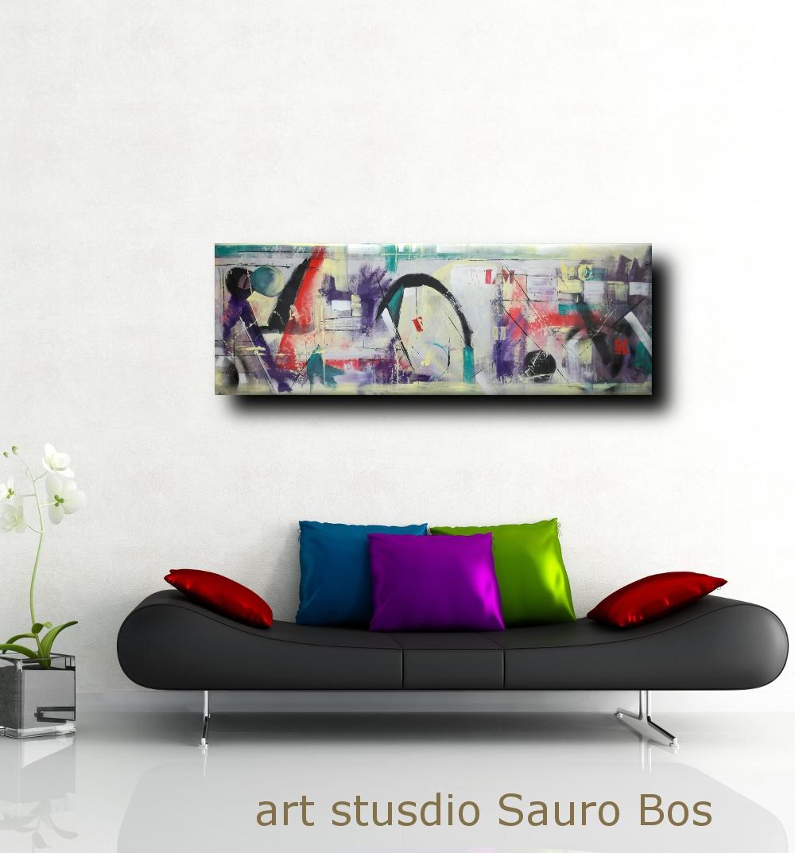 quadri moderni ad olio su tela b21 - quadri moderni grandi dimensioni 180x50 astratto