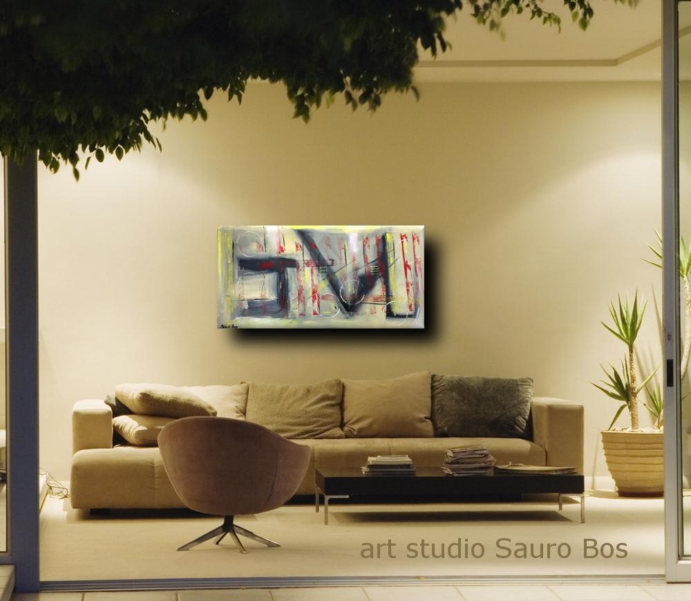 Quadri moderni su tela colorati grandi dimensioni 120x60 for Quadri astratti moderni verticali
