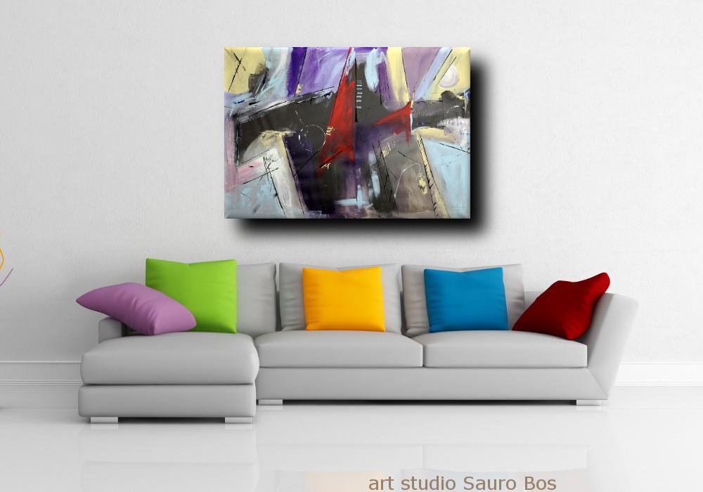 quadri moderni astartti xxl b46 - dipinti astratti fatti a mano 120x80 xxl