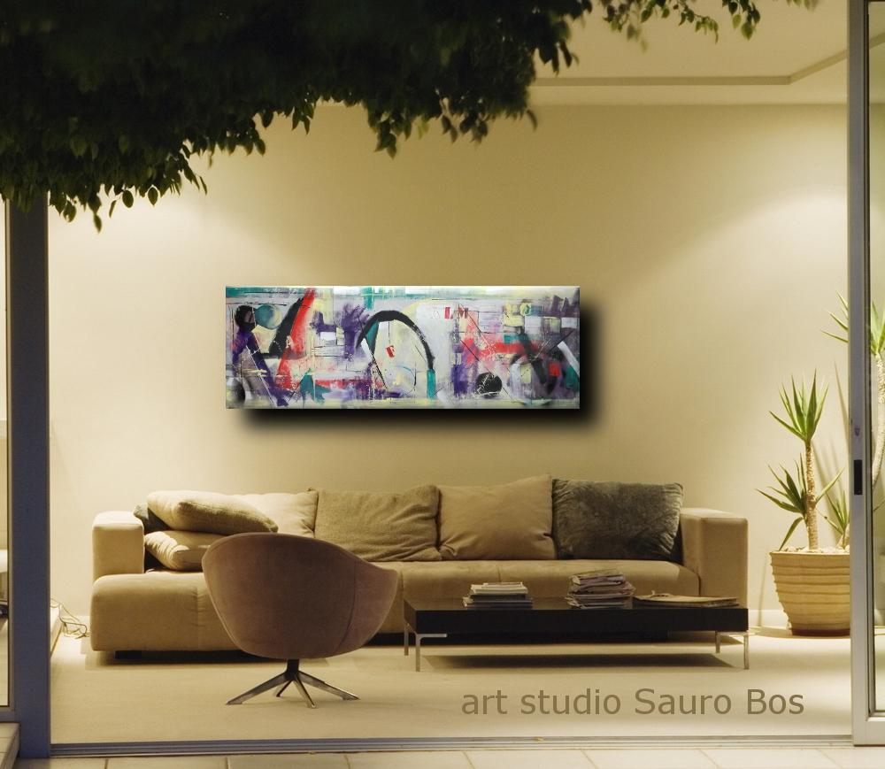 quadri moderni grandi dimensioni 180x50 astratto | sauro bos