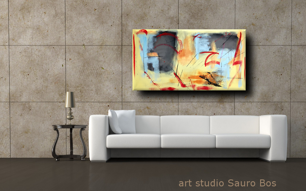 dipinti moderni fatti a mano 120x60 sauro bos