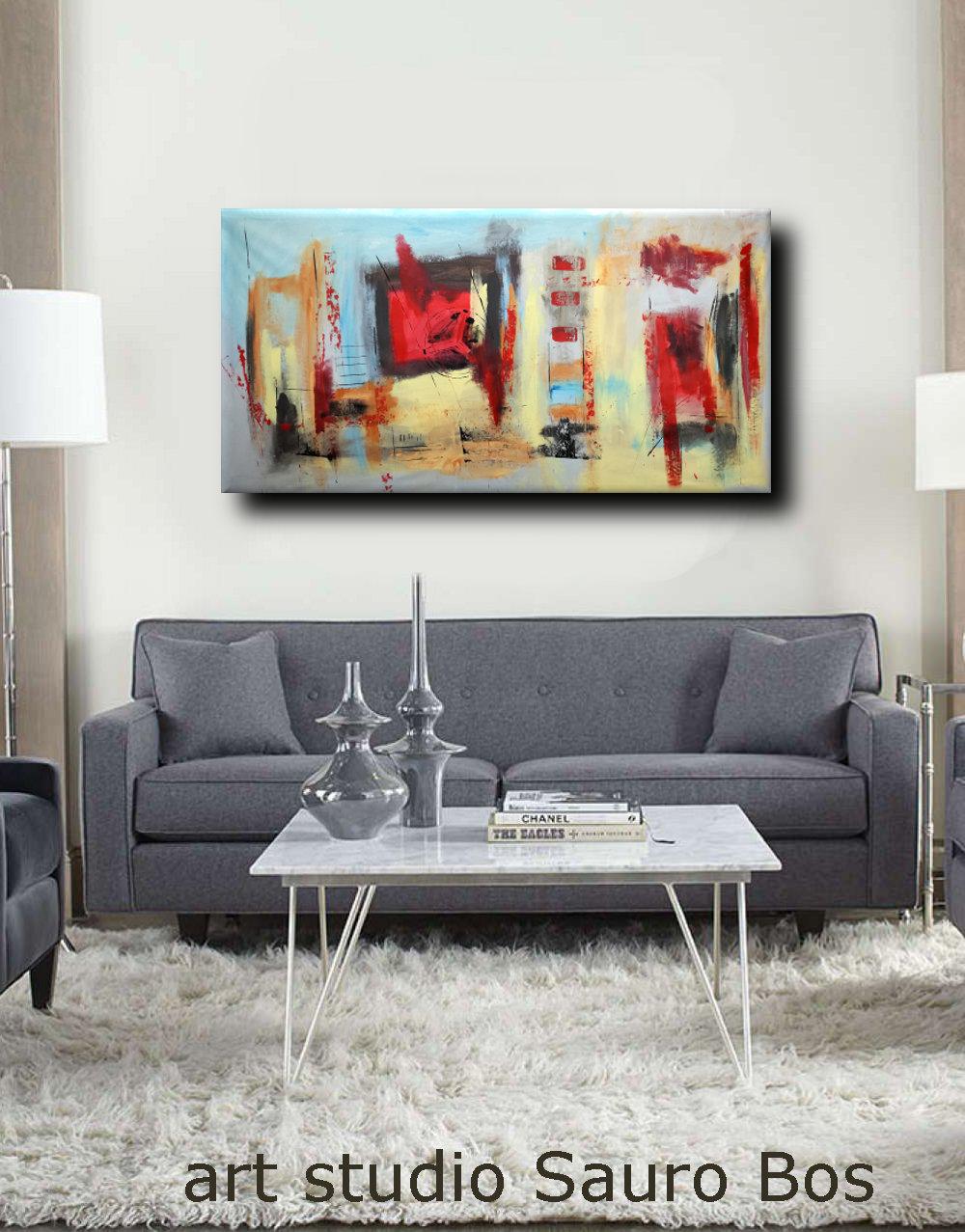 Dipinti Moderni Grandi Dimensioni 180x90 Per Soggiorno