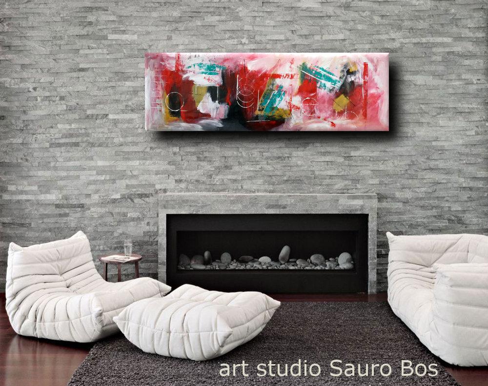 quadri moderni b19 - quadri moderni grandi dimensioni 180x50