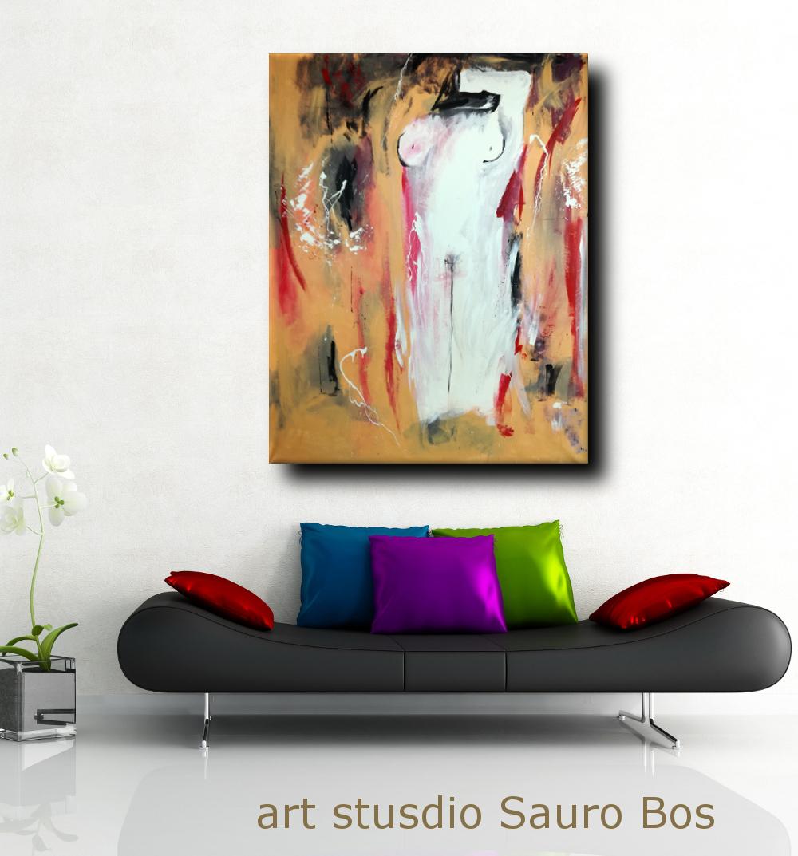 quadro moderno colorato per soggiorno 170x130 | sauro bos