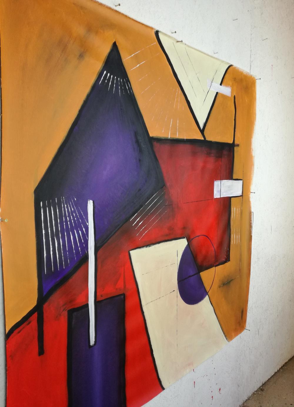 quadri moderni geometrici b22dx - quadri moderni geometrici 120x120