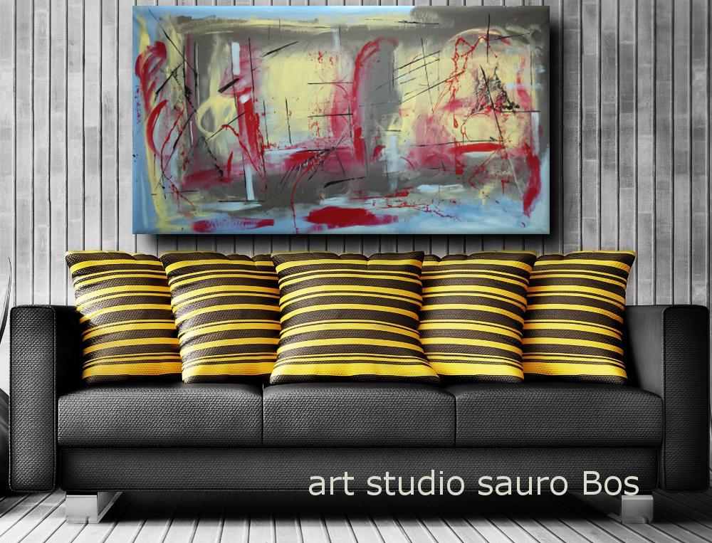 Dipinti Moderni Giganti 180x90 Per Soggiorno Sauro Bos