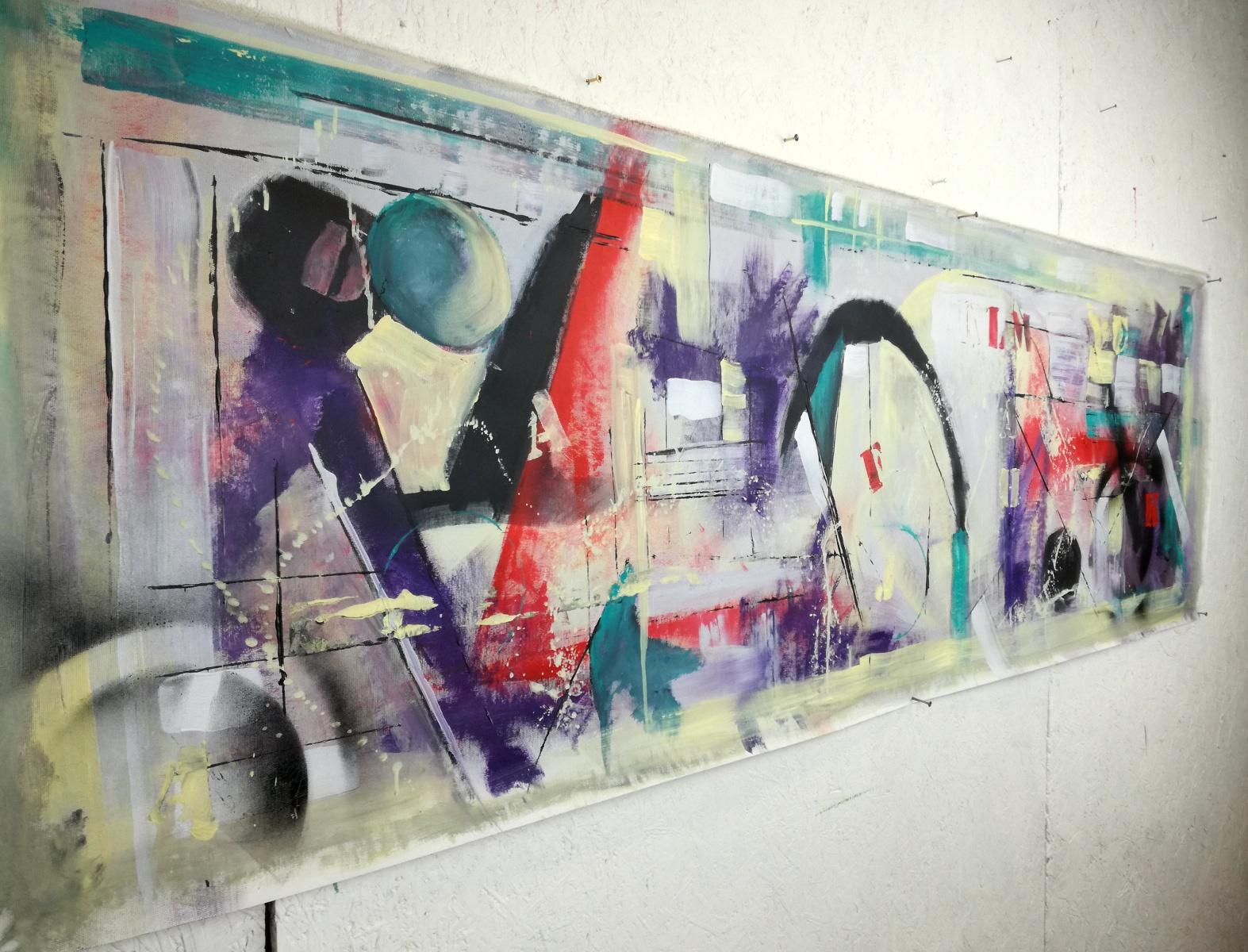 quadri moderni grandi dimensioni 180x50 astratto sauro bos