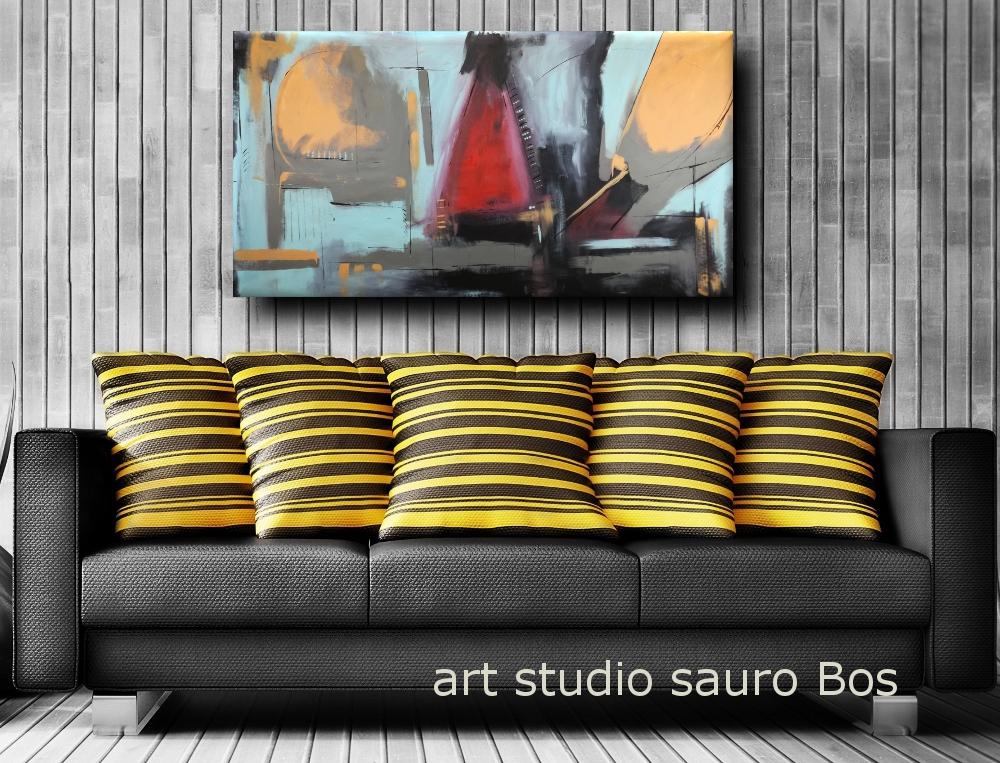 quadri moderni olio su tela b31 - quadri moderni grandi dimensioni 180x90 olio su tela