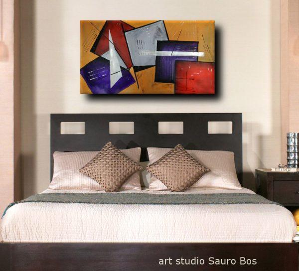 quadri moderni per camera da letto b25 600x544 - quadri moderni fatti a mano geometrici 120x60