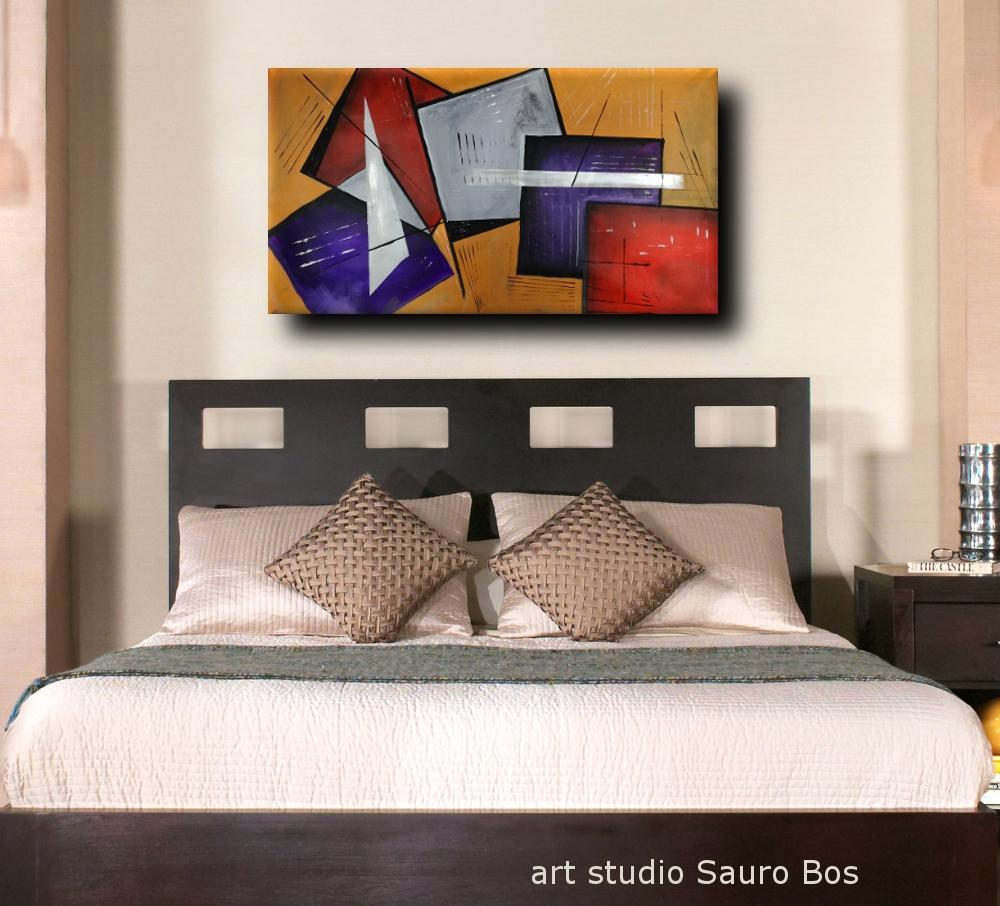 quadri moderni per camera da letto b25 - quadri moderni fatti a mano geometrici 120x60