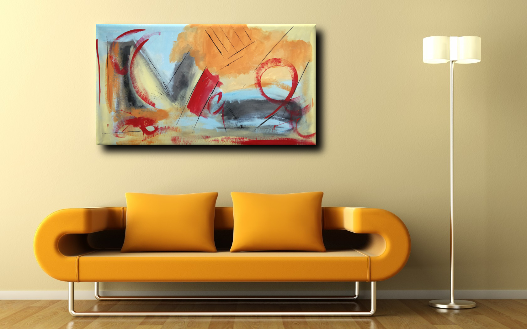 quadri astratti fatti a mano 120x60 per soggiorno | sauro bos
