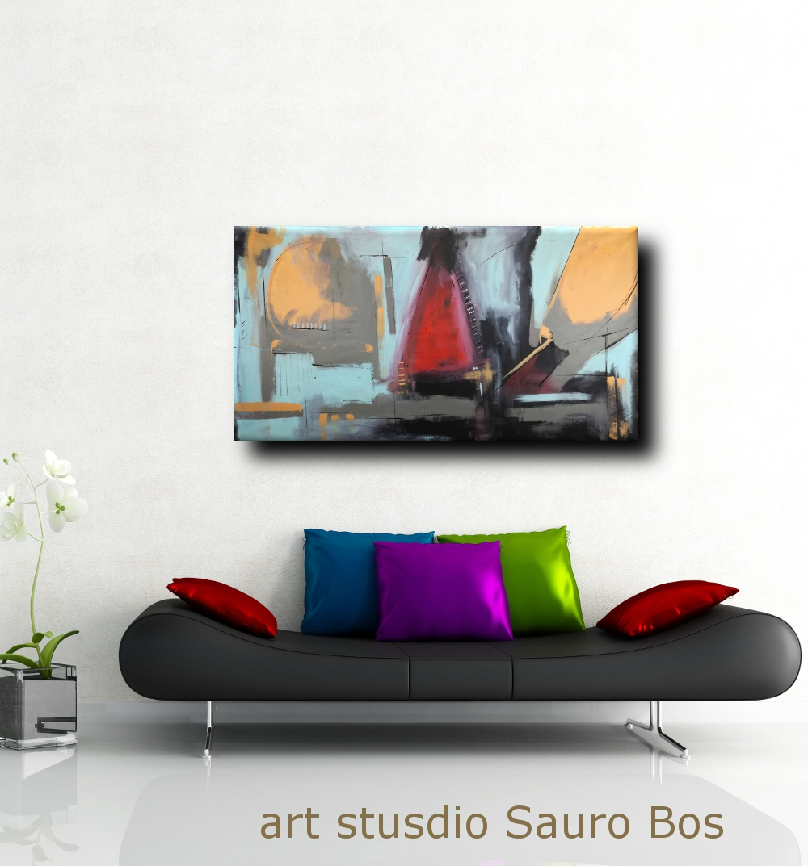 quadri moderni grandi dimensioni 180x90 olio su tela | sauro bos