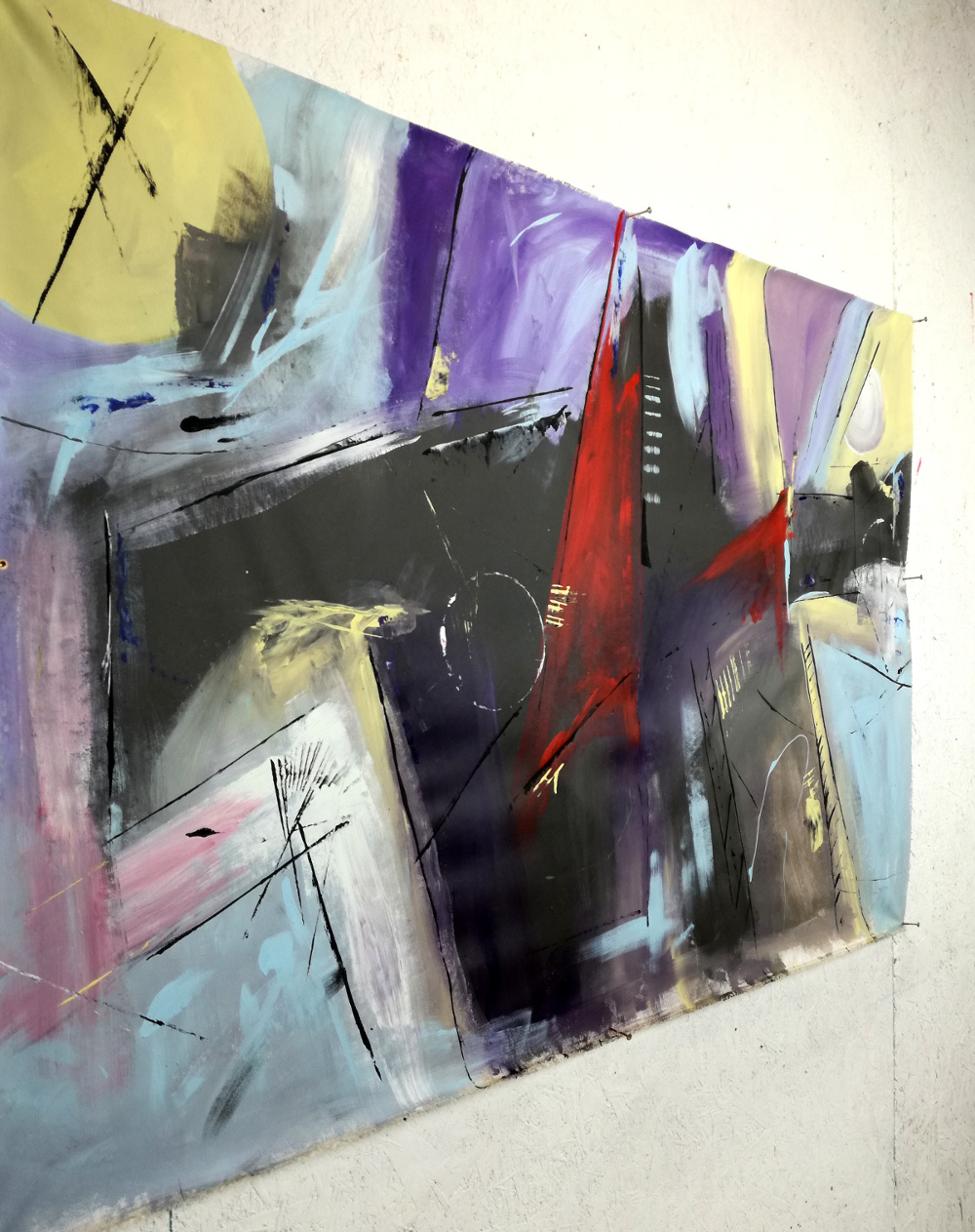 quadri xxl grandi b46 - dipinti astratti fatti a mano 120x80 xxl
