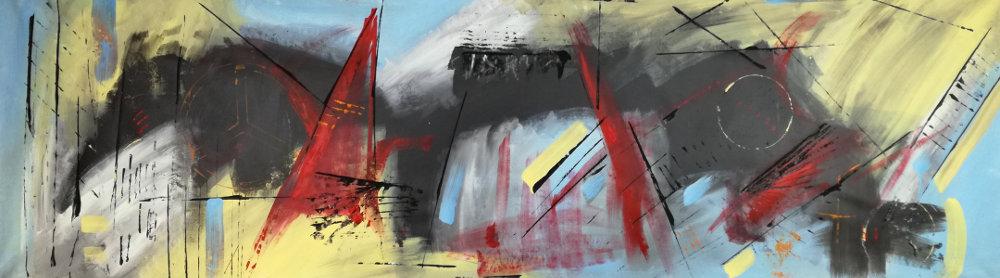 quadro moderni b48 - quadri moderni grandi dimensioni 180x50 olio su tela