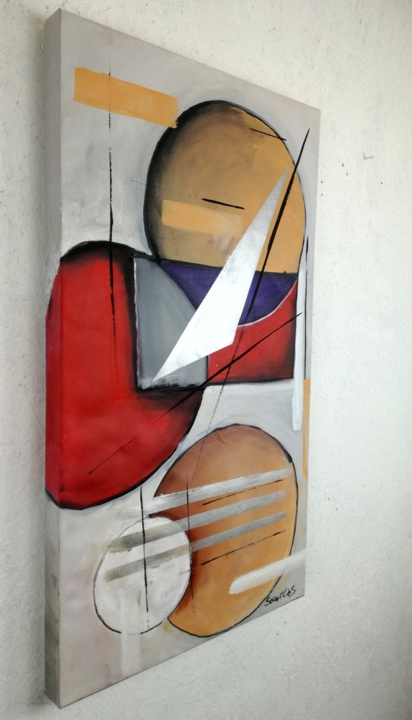 quadro moderno geometrico b20.jpg 600x1048 - quadri moderni fatti a mano 90x45