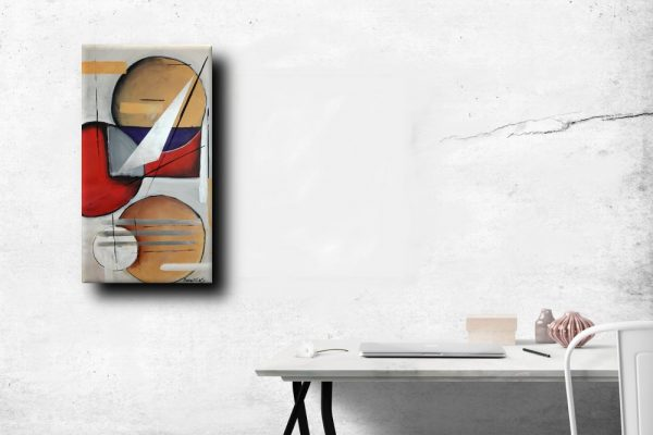 quadro moderno geometrico1 b20 600x400 - quadri moderni fatti a mano 90x45