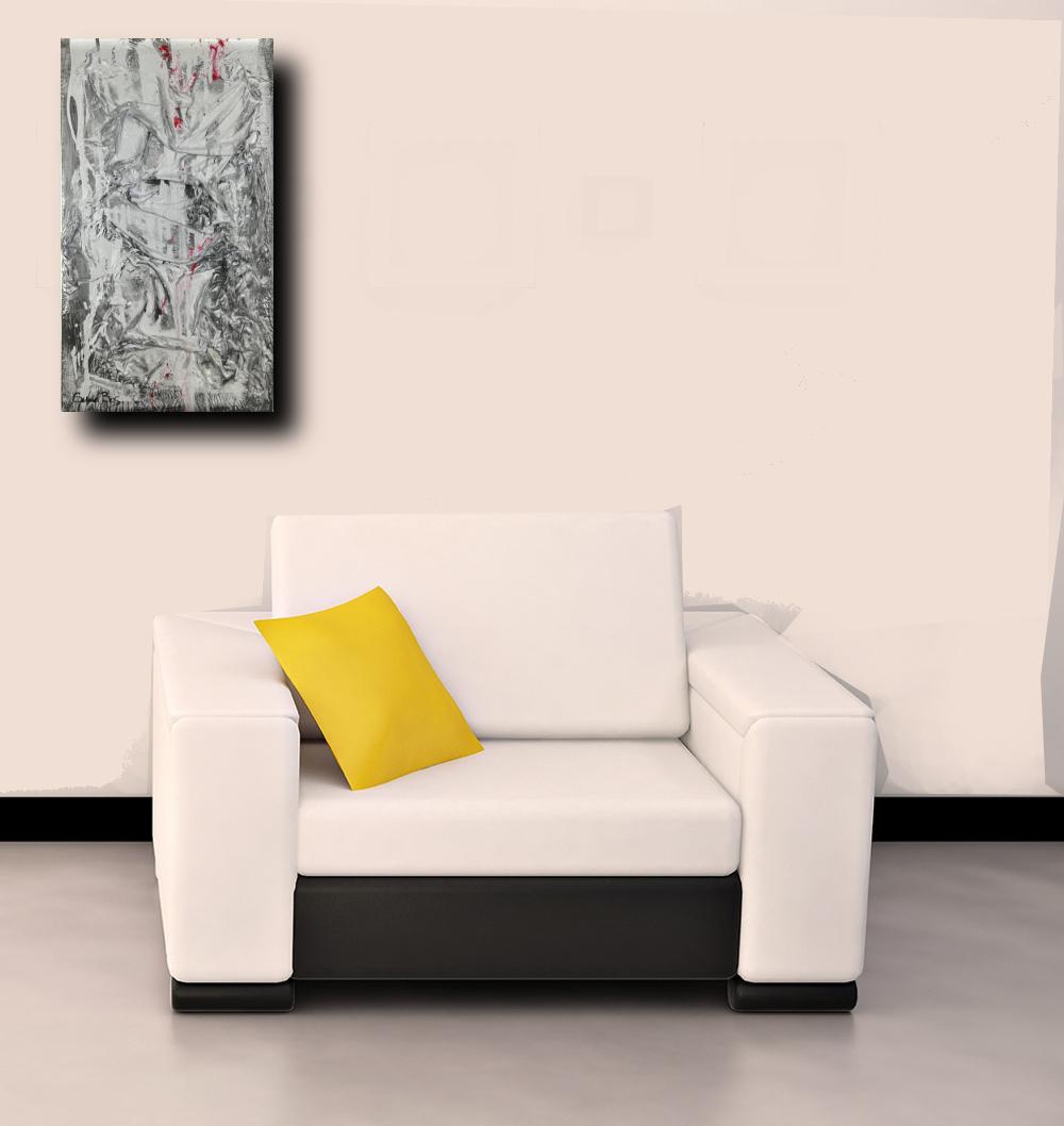 quadri moderni poltrona b54 - quadri moderni in rilievo 35x60