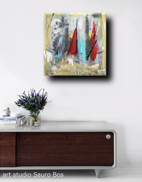 quadri moderni soggiono b51 - quadri moderni  fatti a mano 60x60