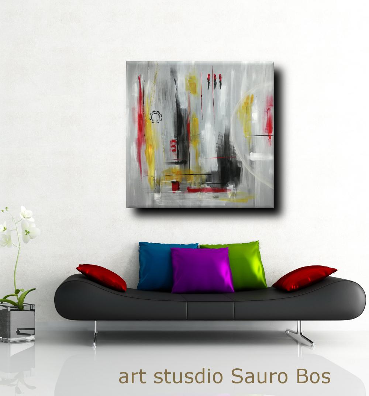 Quadri moderni 120x120 olio su tela sauro bos for Quadri moderni minimalisti