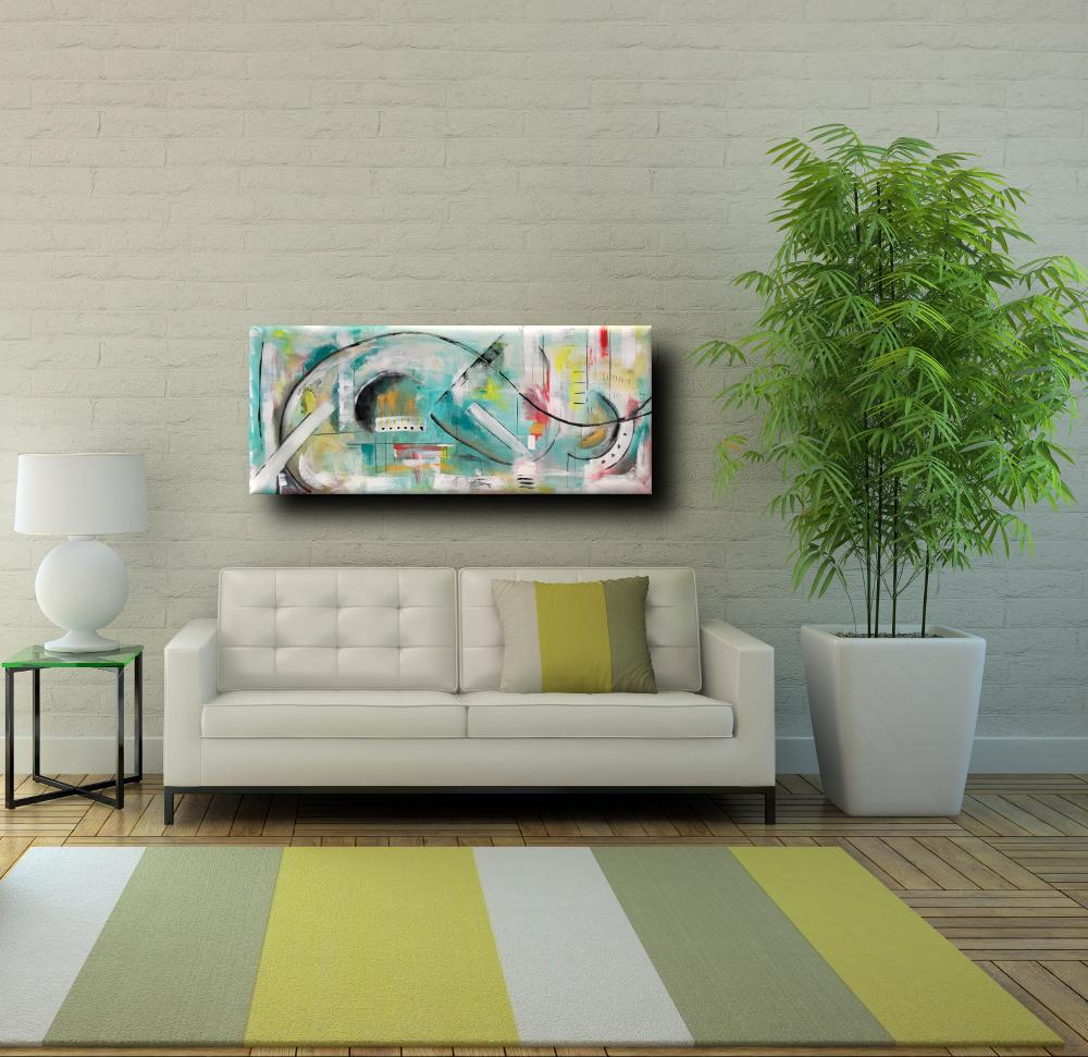 quadri moderni b69 - dipinti astratti fatti a mano 120x60 xxl (Copy)