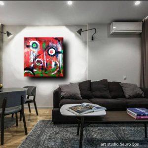 quadri moderni b71 olio su tela 300x300 - quadri astratti colorati 80x80