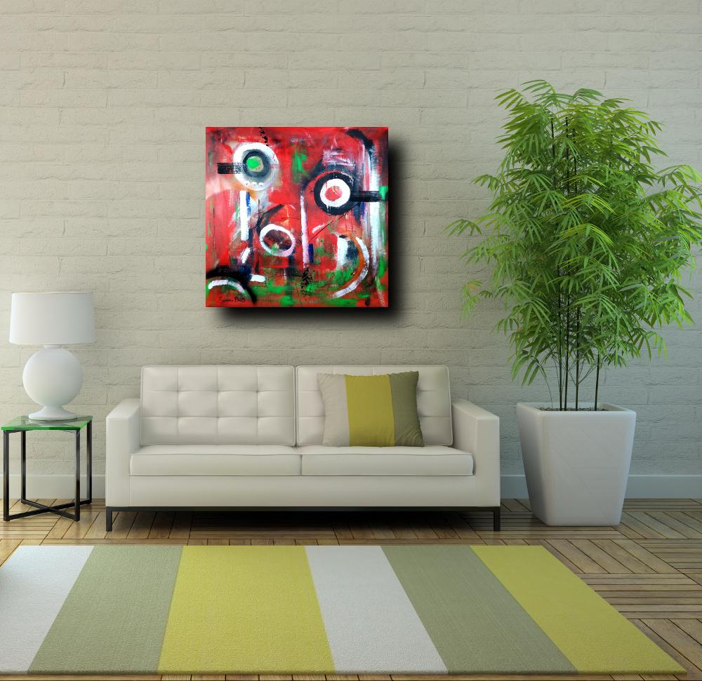 quadri astratti colorati 80x80 | sauro bos