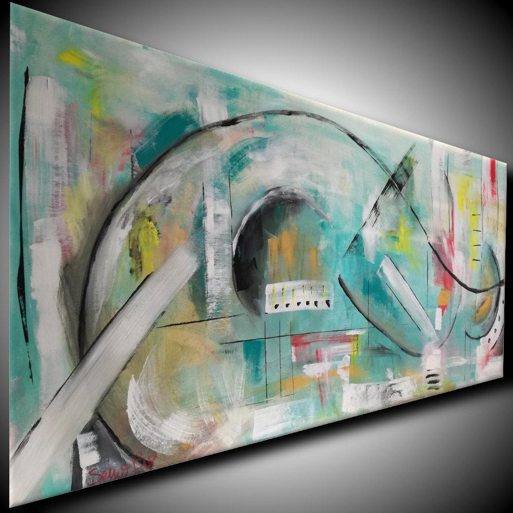 quadro moderno dx b69 - dipinti astratti fatti a mano 120x60 xxl (Copy)