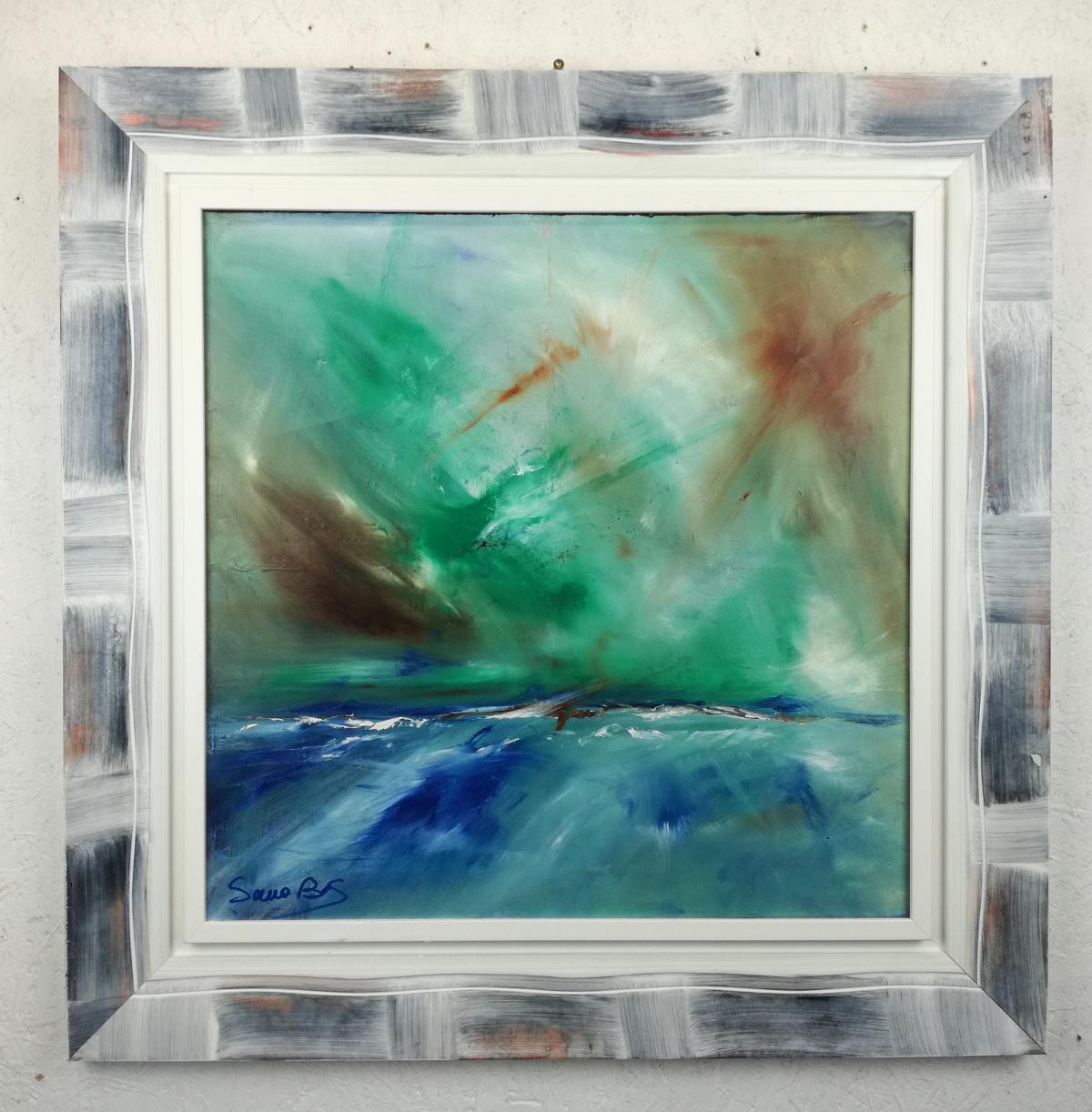 quadro moderno con cornice olio su tela dipinto a mano | sauro bos