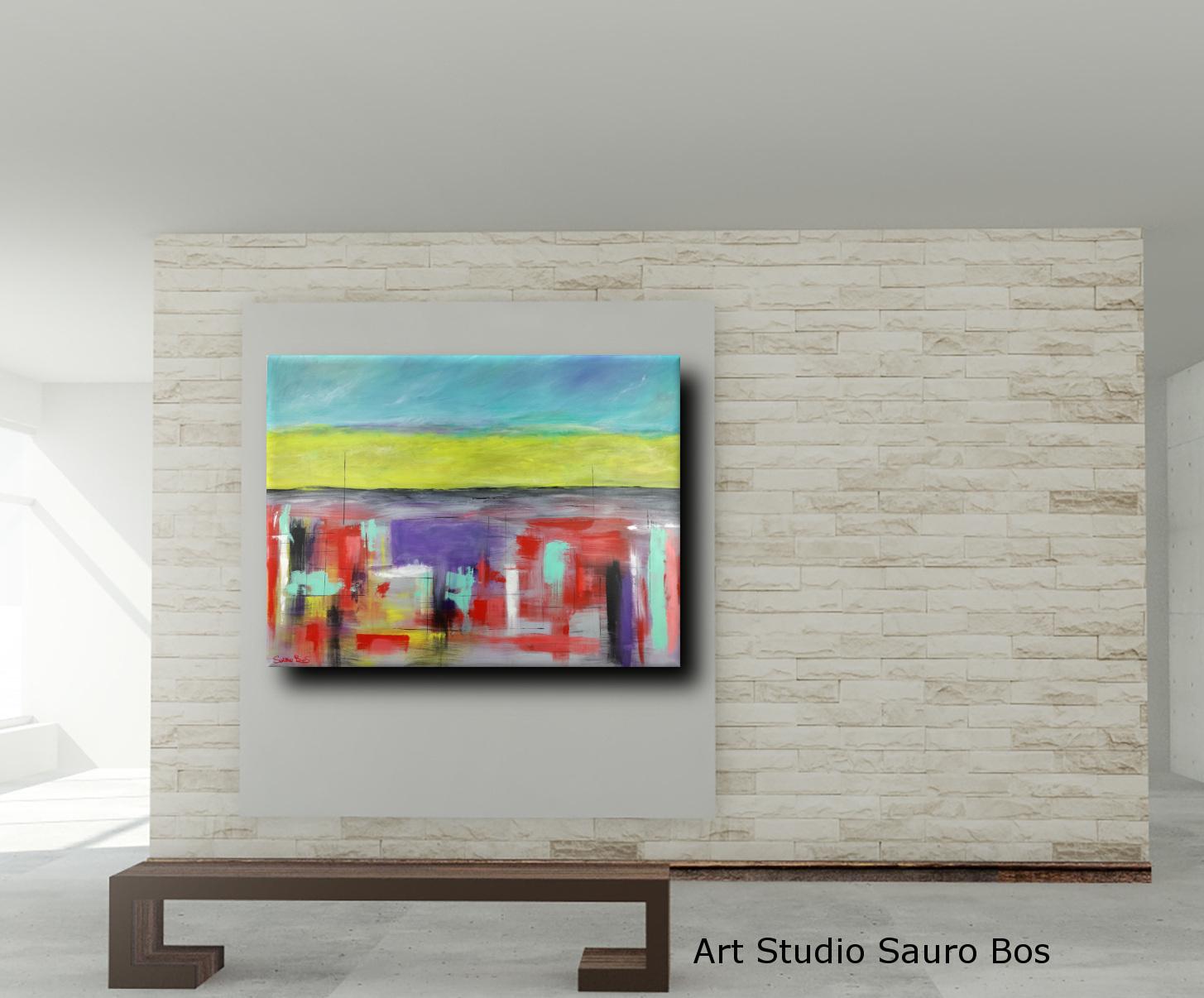 abstract landescape mruo - quadri astratti per arredamento paesaggio moderno xxl