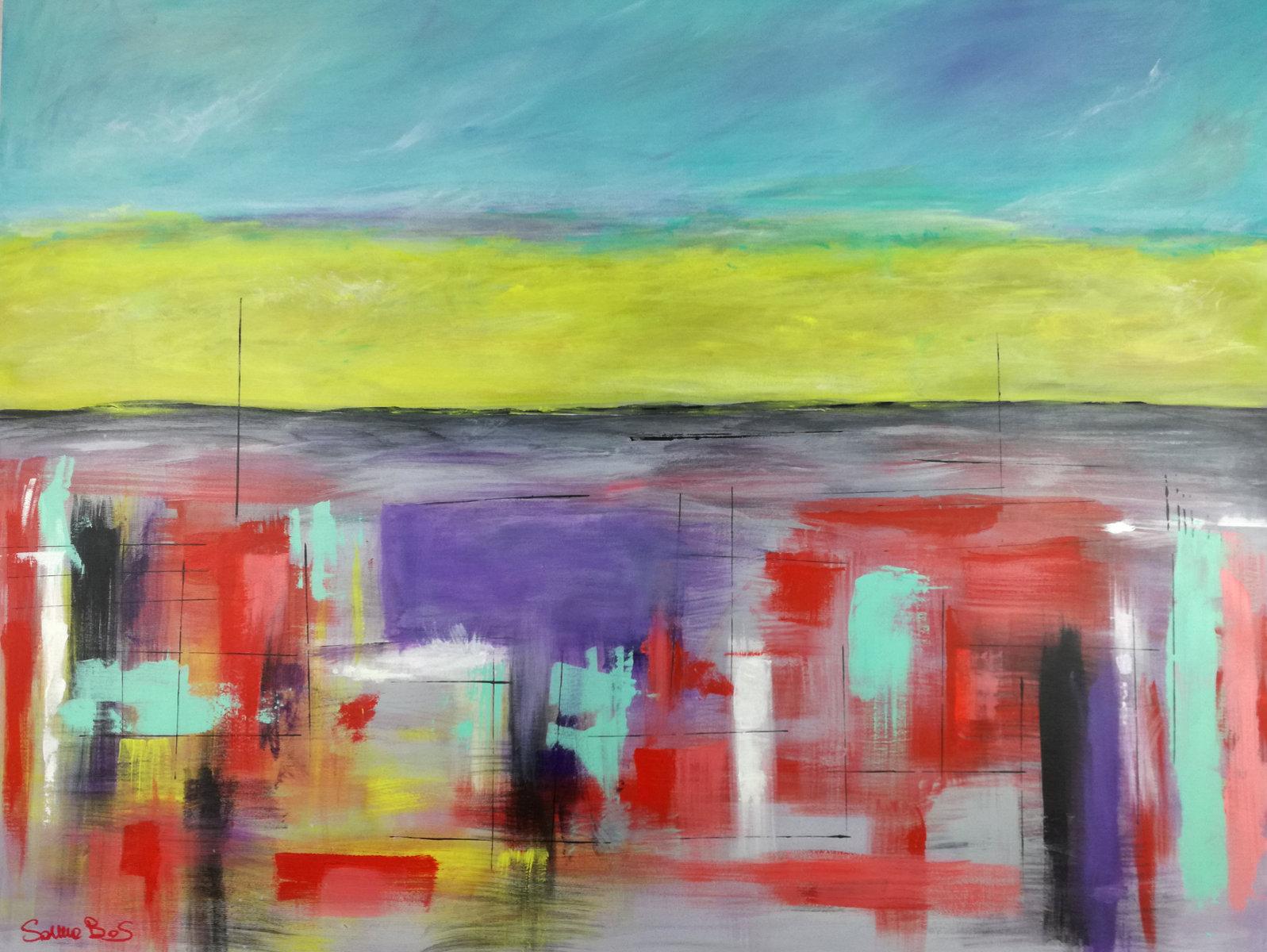 abstract landescape - quadri astratti per arredamento paesaggio moderno xxl