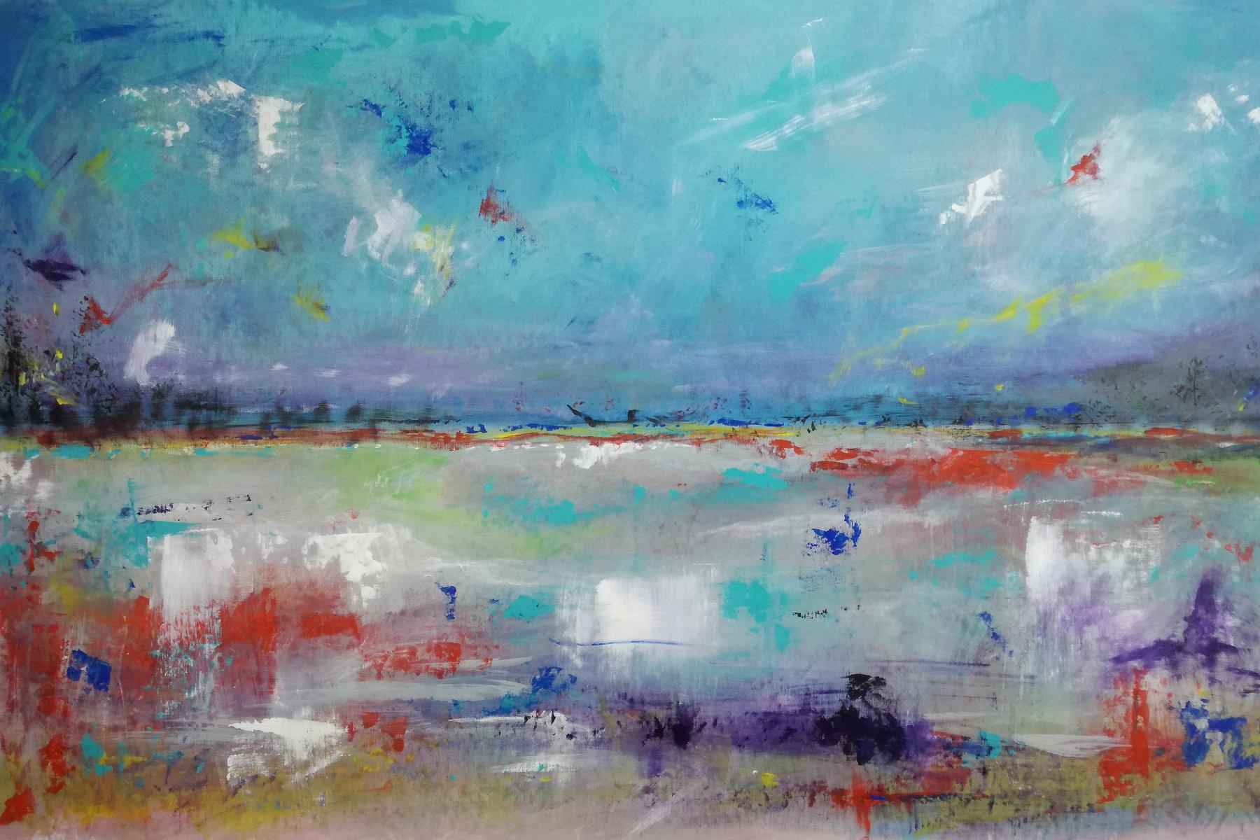 astratto c008 - dipinti astratti paesaggio120x60