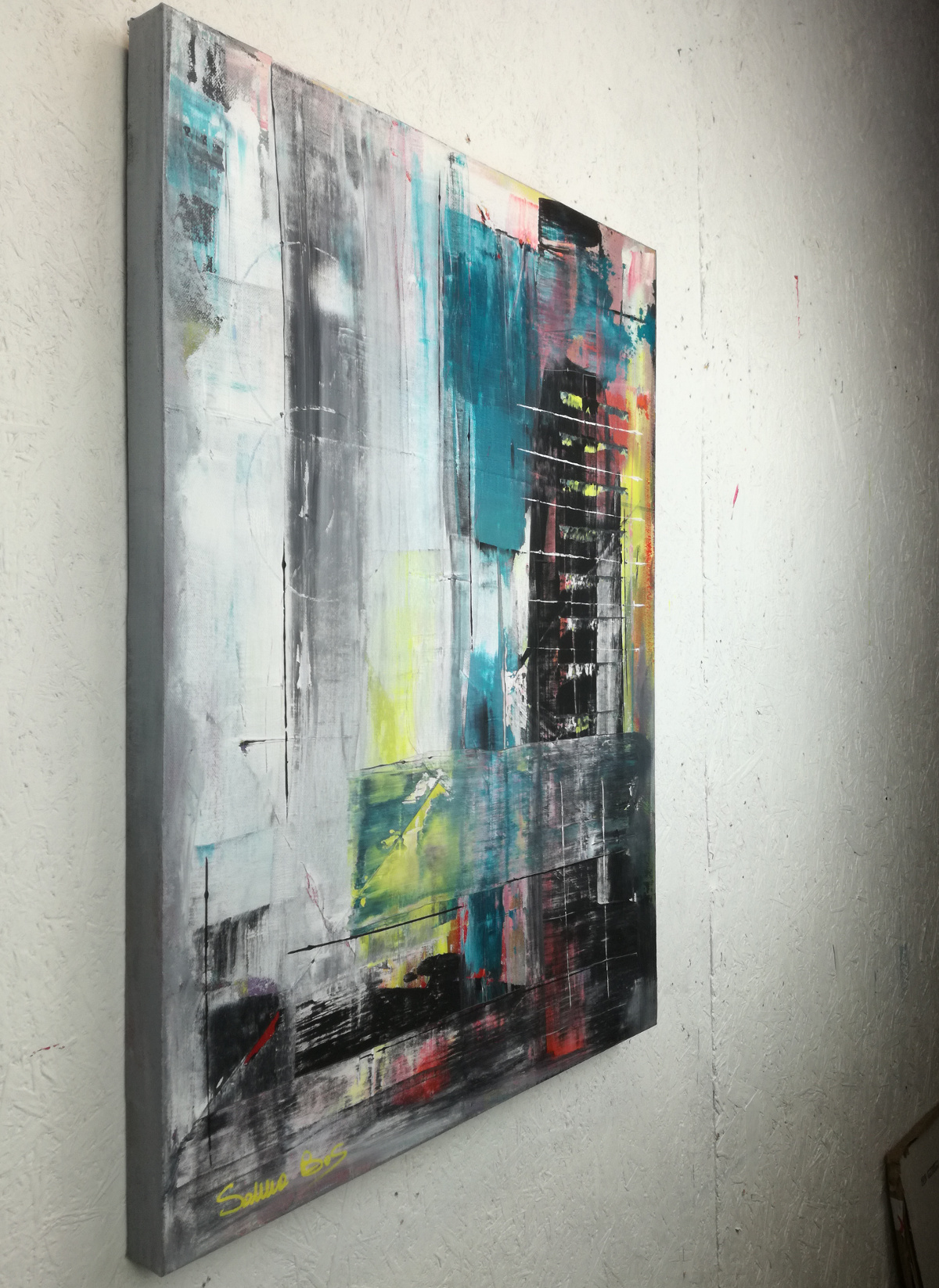 astratto dx c022 - dipinti moderni  fatti a mano 80x60