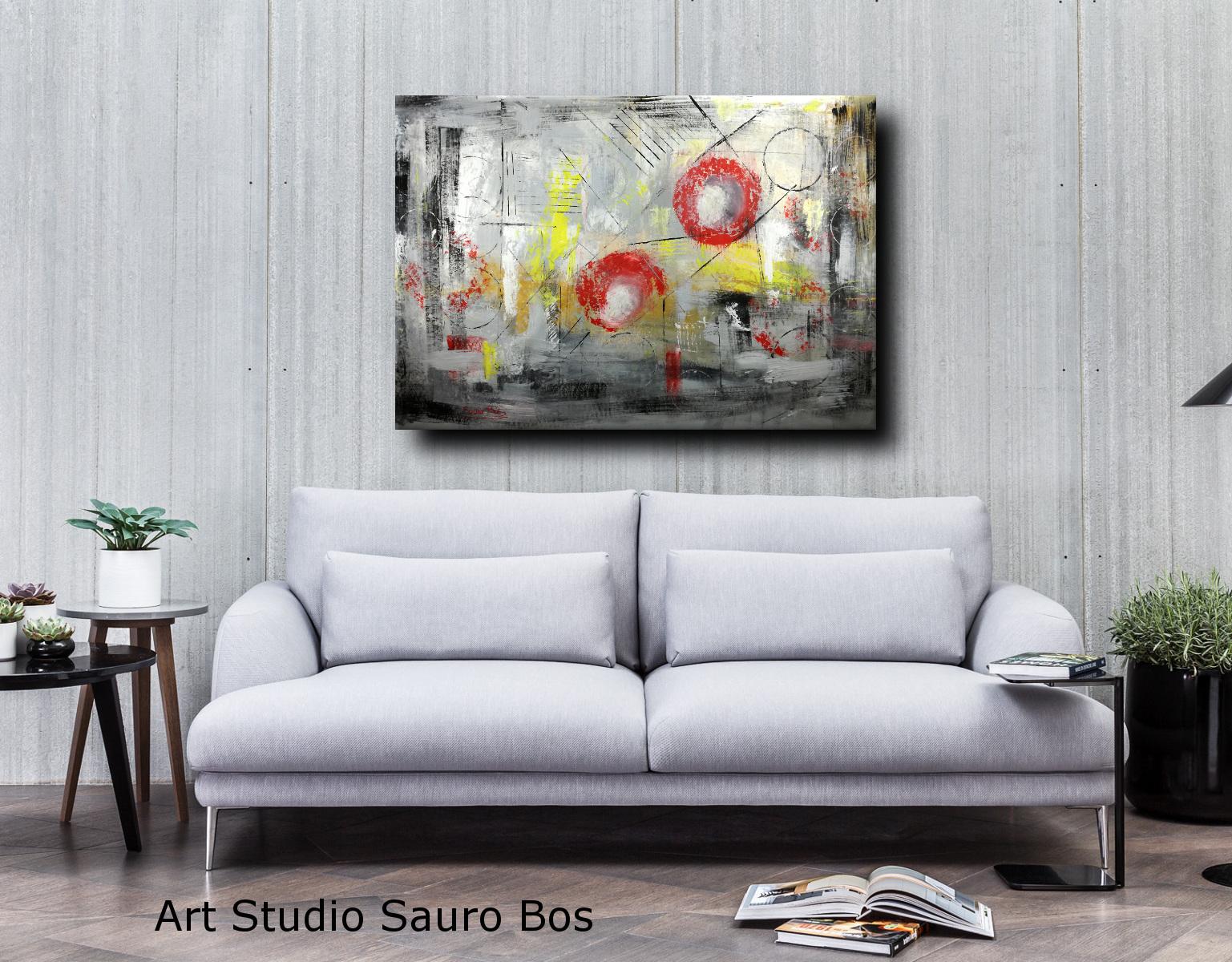 astratto moderno su tela c007 - quadri astratti informali per soggiorno 150x100