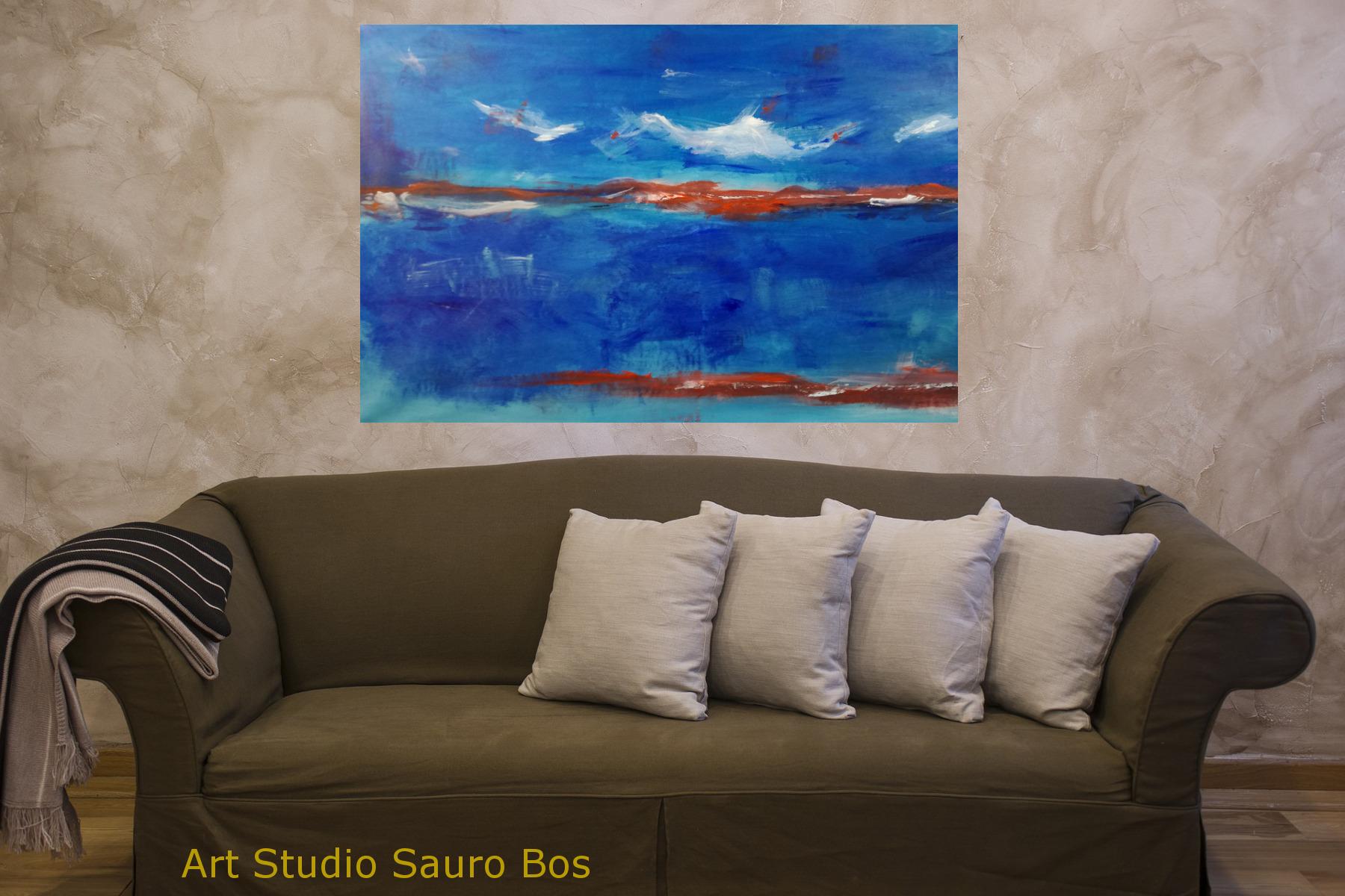 astratto paesaggio c007 1 - quadro moderno paesaggio astratto